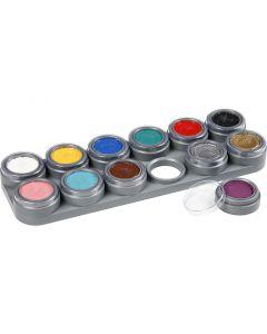 Grimas Ansigtsmaling - Sminkepalette, ass. farver, 12x2,5 ml/ 1 stk.