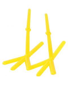 Kyllingefødder, H: 28 mm, L: 37 mm, gul, 50 stk./ 1 pk.