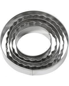 Udstiksforme, cirkel, str. 8 cm, 5 stk./ 1 pk.