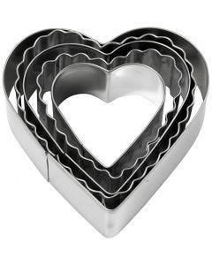 Udstiksforme, hjerte, str. 8 cm, 5 stk./ 1 pk.
