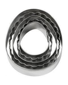 Udstiksforme, æg, str. 8 cm, 5 stk./ 1 pk.