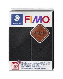 FIMO® Leather Effect , black (909), 57 g/ 1 pk.