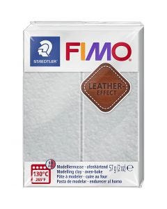 FIMO® Leather Effect , dove grey (809), 57 g/ 1 pk.