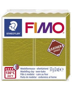 FIMO® Leather Effect , olive (519), 57 g/ 1 pk.