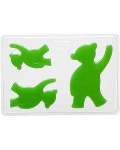 Støbeform, bjørn, H: 6+8+10 cm, str. 14,9x22 cm, 1 stk.