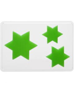Støbeform, stjerne, H: 6+8+10 cm, str. 14,9x22 cm, 1 stk.