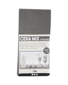 Cera-Mix Standard modelgips, lys grå, 1 kg