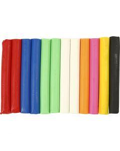 Soft Clay Modellervoks, ass. farver, 200 g/ 1 pk.