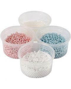 Pearl Clay®, lyseblå, lyserød, råhvid, 1 sæt, 3x25+38 g
