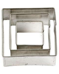 Udstiksforme, firkant, str. 20+30+40 mm, 3 stk./ 1 pk.