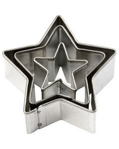 Udstiksforme, stjerne, str. 40x40 mm, 3 stk./ 1 pk.