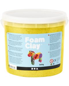 Foam Clay®, metallic, gul, 560 g/ 1 spand