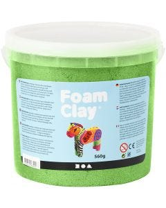 Foam Clay®, metallic, grøn, 560 g/ 1 spand