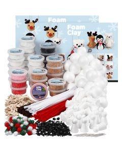 Klassesæt til polardyr af Foam Clay®, ass. farver, 1 sæt
