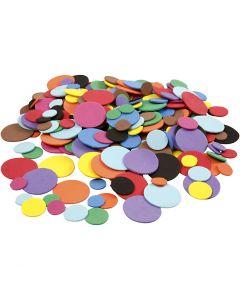 Mosgummicirkler, diam. 12+20+32 mm, ass. farver, 300 ass./ 1 pk.