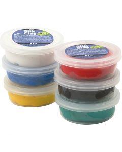Silk Clay®, standardfarver, 6x14 g/ 1 pk.