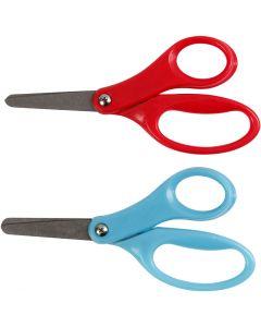 Børnesaks, L: 13 cm, højre, blå, rød, 12 stk./ 1 pk.