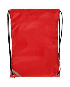 Rygsæk, str. 31x44 cm, rød, 1 stk.