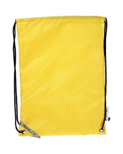 Rygsæk, str. 31x44 cm, gul, 1 stk.