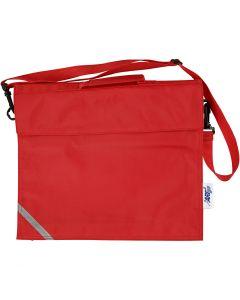 Skoletaske, str. 36x31 cm, rød, 1 stk.
