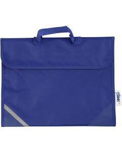 Skoletaske, str. 36x29 cm, blå, 1 stk.