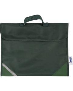 Skoletaske, str. 36x29 cm, grøn, 1 stk.