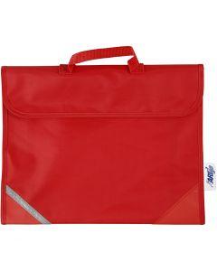 Skoletaske, str. 36x29 cm, rød, 1 stk.