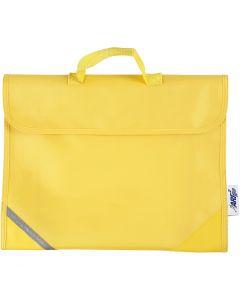 Skoletaske, str. 36x29 cm, gul, 1 stk.