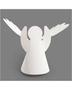 Engle, H: 10,5 cm, diam. 7 cm, 230 g, hvid, 25 stk./ 1 pk.