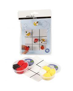 Mini kreative sæt, kryds og bolle spil, 1 sæt
