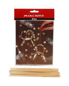 Kreativt minikit, julebuk i halm, H: 7 cm, 1 stk./ 1 sæt