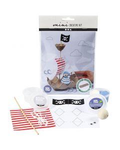 Kreativt Minikit, Æggebakke piratskib, 1 sæt