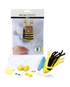 Kreativt Minikit, Toiletrulle sprælle-bi, 1 sæt