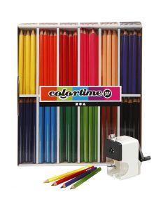 Colortime farveblyanter, mine 5 mm, ass. farver, 1 sæt