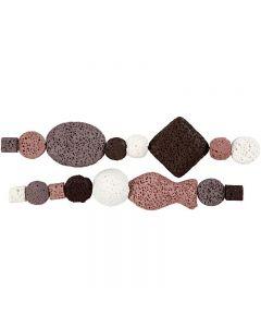 Luksus Perleharmoni, diam. 6-37 mm, hulstr. 2 mm, gl. rosa (25), 1 sæt