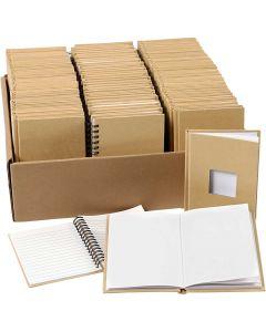 Notesbøger, A6, str. 10,5x15 cm, 3x32 stk./ 1 pk.
