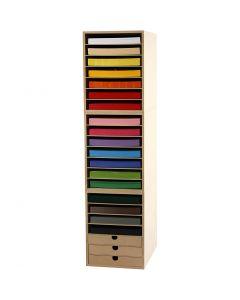 Karton inkl. reoler, H: 100 cm, A4, 210x297 mm, 180 g, ass. farver, 1 sæt