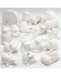Sparebøsser, hvid, 106 stk./ 1 ks.