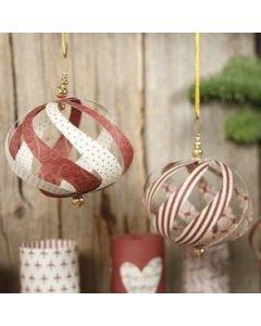 Vivi Gade julekugle af papirstrimler