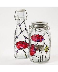 Lysglas med Tiffanydeko