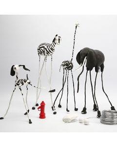 Lav en dyrepark med Silk Clay