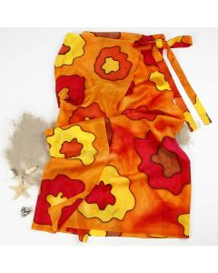 Silkemalet sarong af silke
