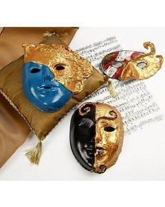 Masker Rokoko med art metal guld