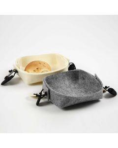 Brødkurv foldet i hobbyfilt