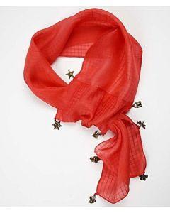 Jacquardvævet silketørklæde