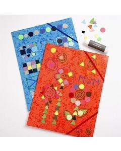 Elastikmapper med mosaikpynt