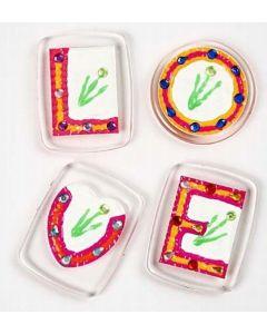 Badges med rhinsten til køleskabet