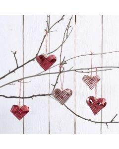 Hjerter flettet i stjernestrimler