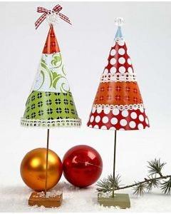 Juletræ på metalfod