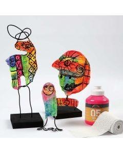 Skulptur med gipsgaze